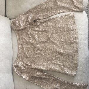Holiday Sequin long sleep top